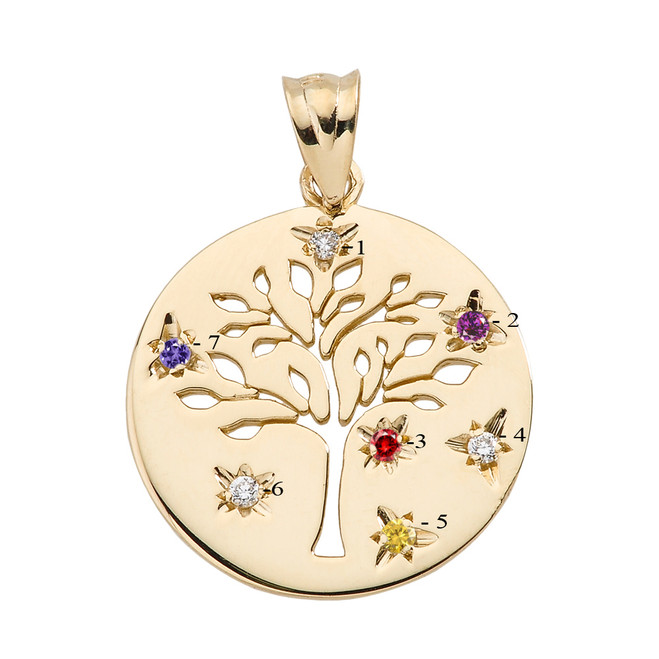 Gold Tree Of Life Oval Charm Pendant
