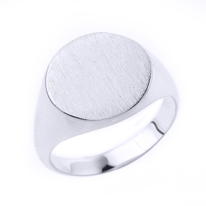Engravable Men's Signet Ring in Sterling Silver