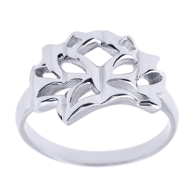 Sterling Silver Lotus Blossom Flower Ring