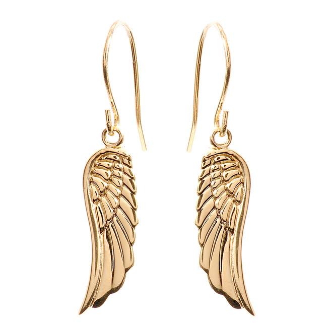 Yellow Gold Angel Wings Earrings