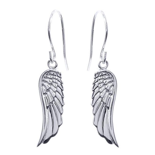 Sterling Silver Angel Wings Earrings