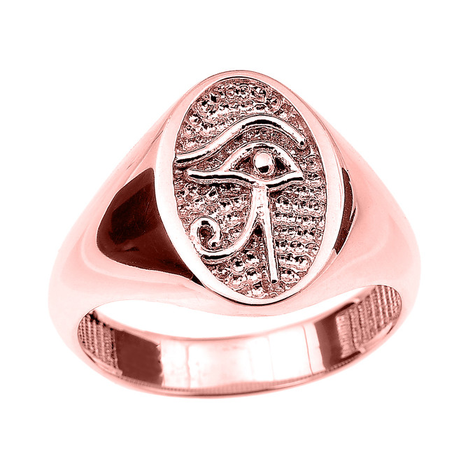 Rose Gold Eye of Horus Ring