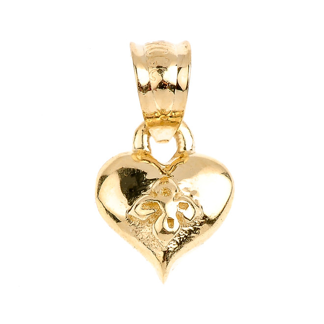 Gold Baby Heart Charm Pendant Necklace