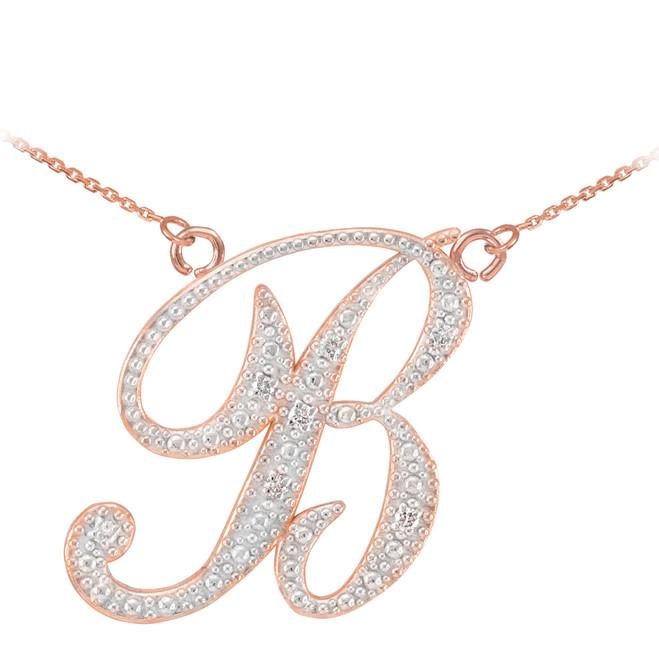 14k gold cursive quot a quot initial pendant necklace