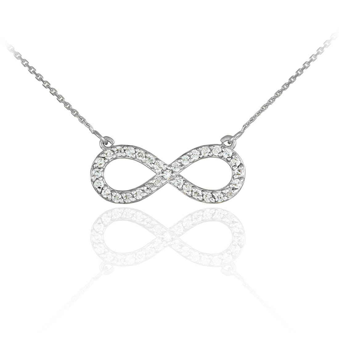 infinity necklace white gold. diamond infinity necklaces necklace white gold