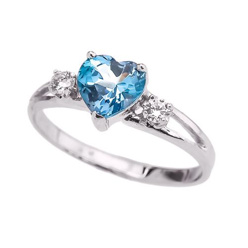 white gold december birthstone cz promise ring