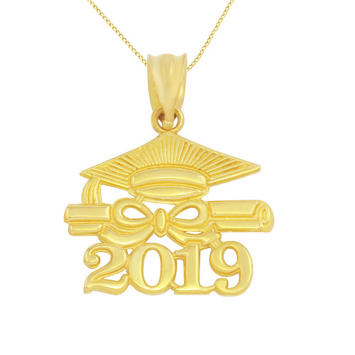 Solid Yellow Gold Class Of 2019 Graduation Diploma Amp Cap