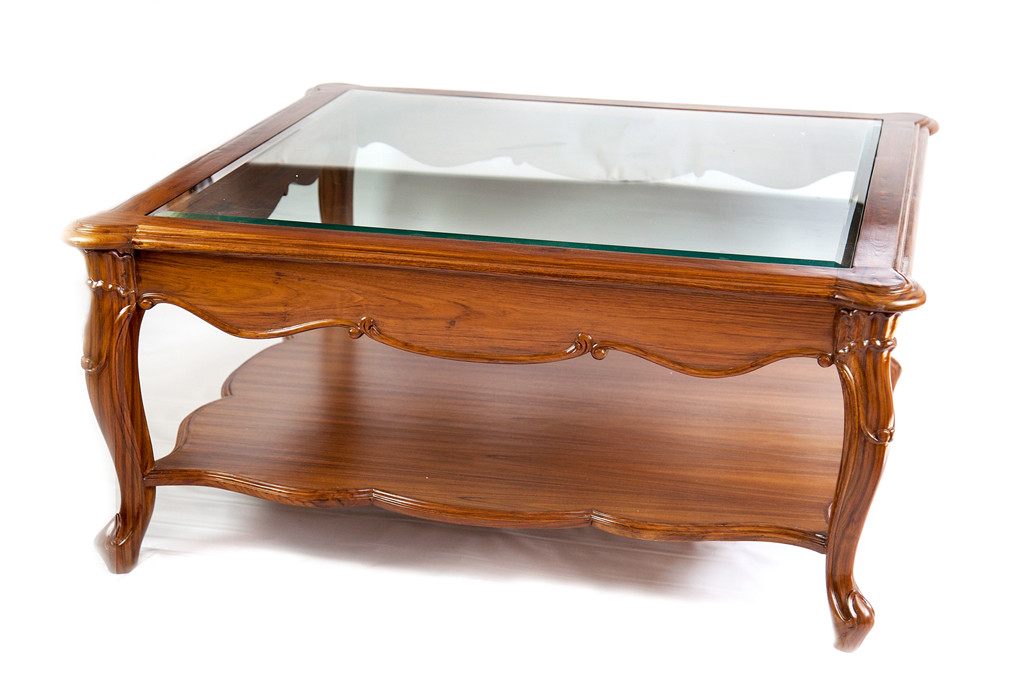 Teak Furniture Glass Top Center Coffee Table Tables Nest Click Here To Enlarge