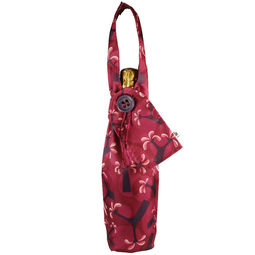 Bottle Bag in Raspberry.  Shown with bottle (not included!)