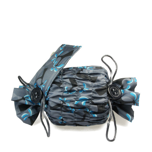 Small 'Stretch' fabric wrap in Ocean Blue.   Used here to wrap a multi-wick candle.