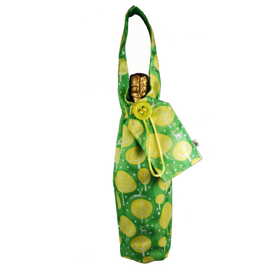 Bottle Bag in Neon Yellow.  Shown with bottle (not included!).