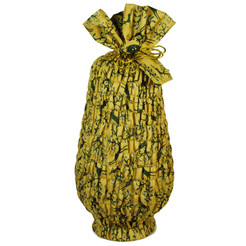 Large Stretch fabric wrap in Old Gold.  Used here to wrap a large vase (46cm high).