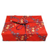 Medium Crackle fabric wrap in Cranberry Red.  Shown wrapping example gift.