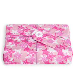 Medium Crackle wrap in Starburst print - Perfect Pink. Shown wrapped.