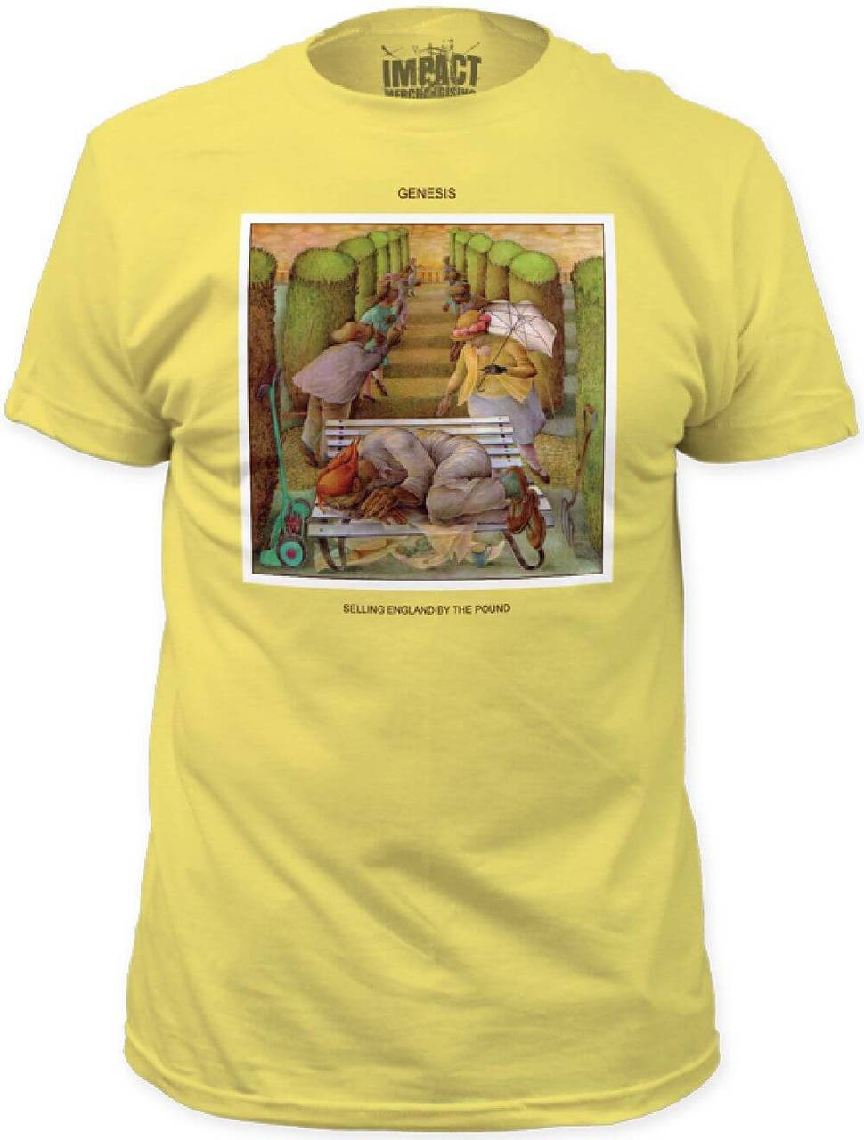 Classic Book Cover Tee Shirts : Genesis selling england by the pound album cover t shirt