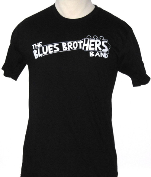 Blues Brothers T-shirt - Blues Brothers Band Logo Black Shirt. Men's