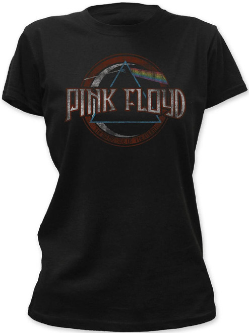 Pink Floyd T-shirt - Dark Side of the Moon Album Cover Artwork. Women's Black Vintage Shirt