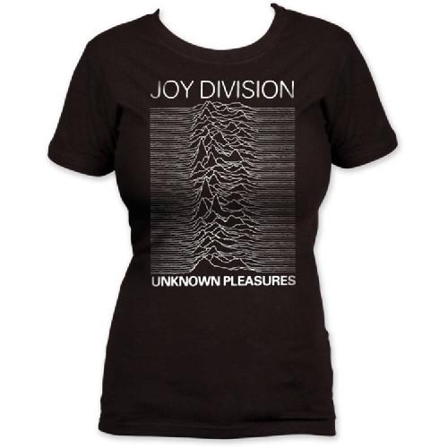 Joy Division Vintage T-shirt - Unknown Pleasures Album Cover Artwork. Women's Black Shirt