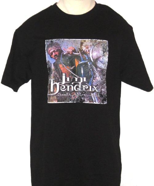 Jimi Hendrix South Saturn Delta Album Cover Artwork Men's Black Vintage T-shirt