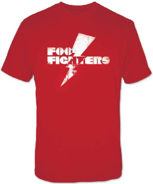 Foo Fighters Lightning Bolt Logo Men's Red Vintage T-shirt
