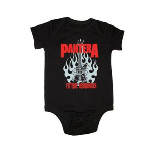 Pantera Infant Bodysuit - Pantera Logo Future Headbanger Baby Romper Suit | Black