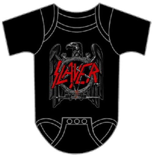 Slayer Baby Onesie - Slayer Eagle Logo Infant Romper Suit   Black
