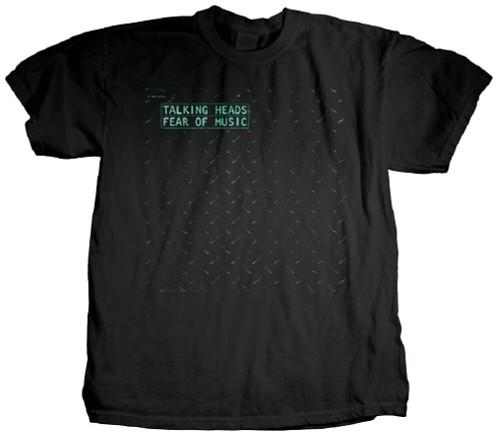 Talking Heads Album Cover T-shirt - Talking Heads Fear of Music. Men's Black Shirt