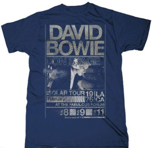 David Bowie Concert T-shirt - Isolar Tour February 1976 Los Angeles Forum. Men's