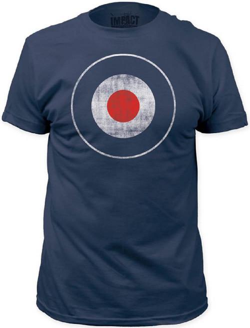 Bulls Eye Target Men's Vintage T-shirt | Blue