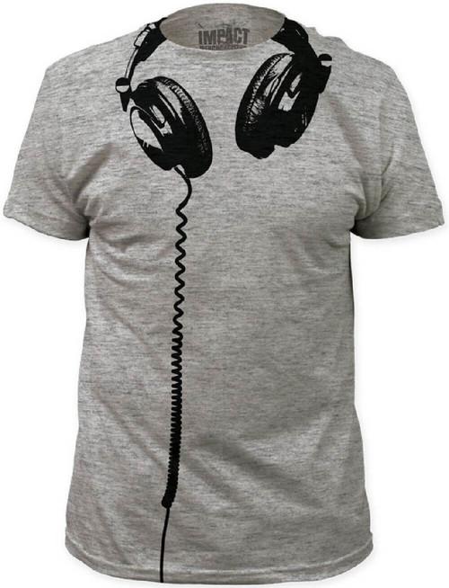 Hanging Headphones Gray T-shirt | Men's.