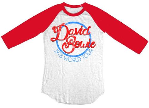 David Bowie Vintage Concert T-shirt - David Bowie 1978 World Tour. Baseball Jers
