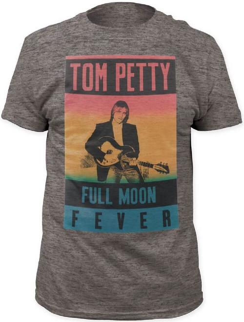 Tom Petty Full Moon Fever Album Cover Artwork Men's Gray Vintage T-shirt