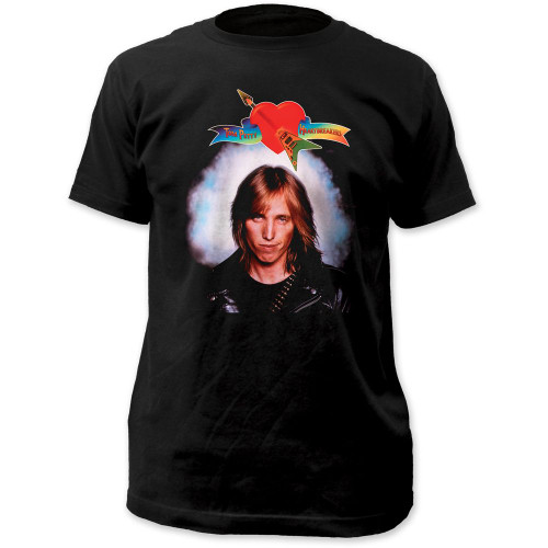 Tom Petty and the Heartbreakers Self Titled Debut Album Cover Artwork Men's Black Vintage T-Shirt