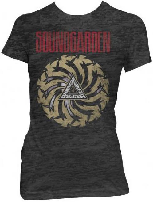 Soundgarden Women's Vintage T-shirt - Badmotorfinger Album Cover Artwork. Black