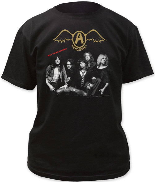 Aerosmith T-shirt - Get Your Wings Album Cover Artwork | Men's Black Shirt
