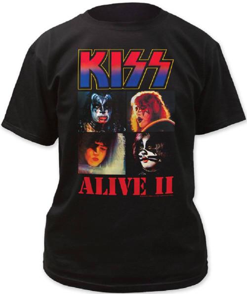Kiss T-shirt - Alive II Album Cover Artwork | Men's Black Shirt