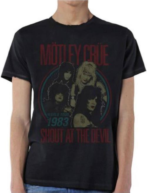 Motley Crue T-shirt - Motley Crue Shout at the Devil World Tour 1983. Men's Black Vintage Shirt