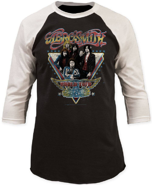 Aerosmith Concert T-shirt - Aerosmith World Tour | Vintage Baseball Jersey