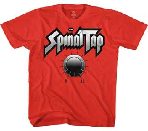Spinal Tap T-shirt - Amplifier Knob with Eleven  | Men's Red Shirt