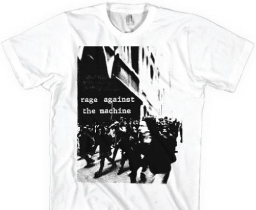 Rage Against the Machine T-shirt - Riot Photograph | Men's White Vintage T-shirt