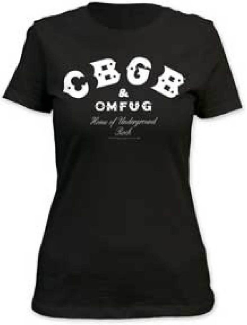 CBGBs Women's T-shirt - CBGB & Omfug Home of Underground Rock Logo | Women's Crew Neck Shirt