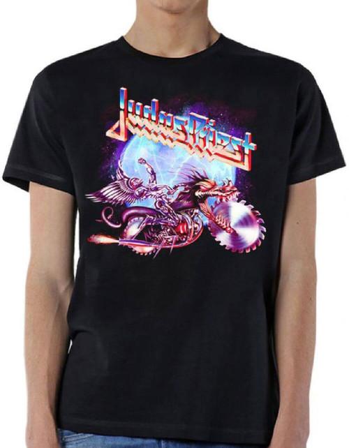 Judas Priest Album T-shirt - Painkiller Album Cover Artwork. Men's Black Shirt