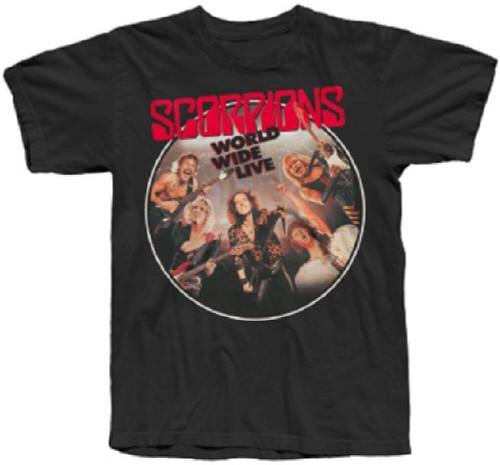 Scorpions Concert Album T-shirt - Scorpions World Wide Live. Men's Black Album Cover Artwork Shirt