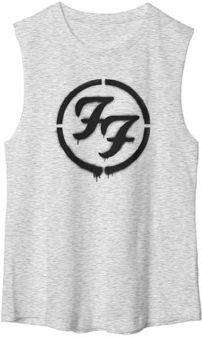 Foo Fighters Logo Muscle T-shirt - Foo Fighters FF Logo. Women's Gray Sleeveless Shirt