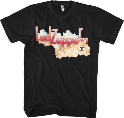 Led Zeppelin T-shirt - Led Zeppelin II Album Cover Artwork   Men's Black Shirt