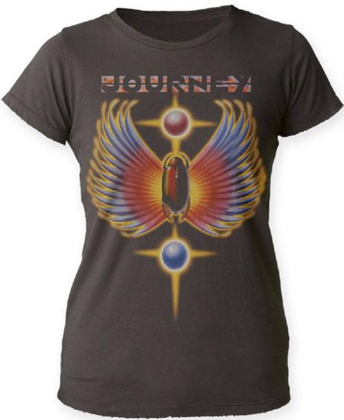 Journey Women's T-shirt - Journey Greatest Hits Album Cover Artwork | Black Shirt