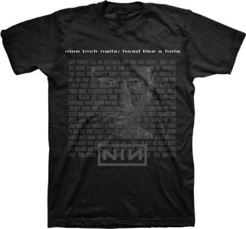 Nine Inch Nails T-shirt - Nine Inch Nails Head Like a Hole Song Single Album Cover Artwork | Men's Black Shirt