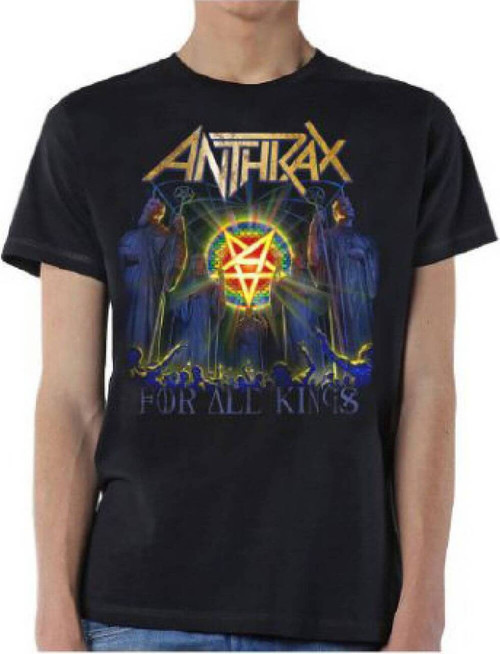 Anthrax T-shirt - Anthrax For All Kings Album Cover Artwork | Men's Black Shirt