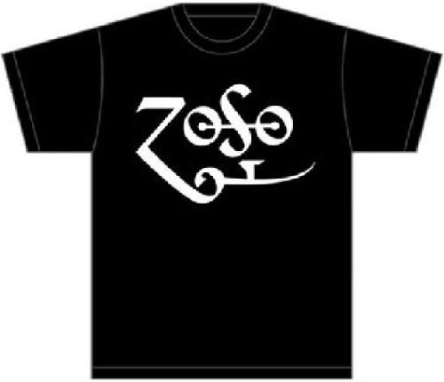 Led Zeppelin T-shirt - Jimmy Page Zoso Logo   Men's Black Shirt