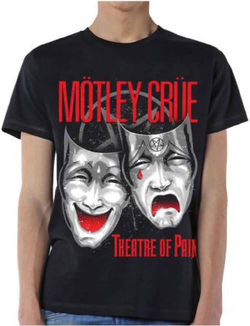 Motley Crue Theatre of Pain T-shirt - Motley Crue Theatre of Pain Album Cover Artwork. Men's Black Shirt
